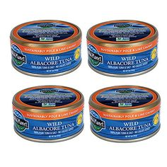 WILD PLANET > Wild Albacore Tuna, Low Mercury [ 5 Ounce Each, 4 Pack ] 100% Poll or Troll Caught, Non GMO, Gluten Free! * You can find more details at : Quick dinner ideas.