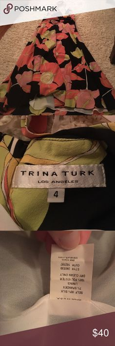 Trina Turk dress Like new Trina Turk sundress. Can be dressed up or down! Halter too with open back Trina Turk Dresses Backless