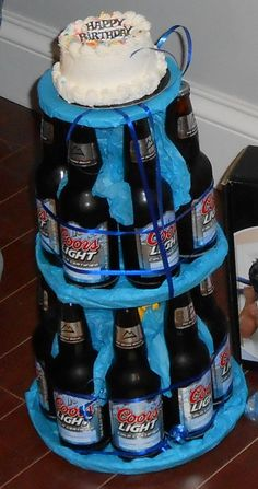 Dereks next birthday cake 21st Birthday, Birthday Wishes, Birthday Gifts, Birthday Parties, Birthday Cakes, Birthday Ideas, Beer Bottle Cake, Image Pinterest, Beer Can Cakes