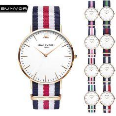 0f05fef38270 BUMVOR 2018 New Watches For Men Women Ultra Slim Quartz Watch with Simple  Nylon