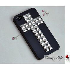 Cross Antique Silver Pyramid stud And Hard Case with For Apple iPhone... ($13) ❤ liked on Polyvore