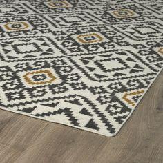Flatweave Grey Motif Wool Rug (8' x 10')   Overstock.com