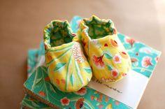 Birds & Berries Baby Booties - Warp & Weft | Exquisite Textiles