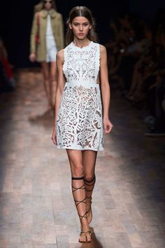 All over, white. - SPRING 2015 RTW VALENTINO COLLECTION - The Cut