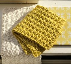 New eco-knitted dishcloths - susanne-gustafsson. Dishcloth Knitting Patterns, Knit Dishcloth, Knitting Charts, Knitting Stitches, Knit Patterns, Free Knitting, Crochet Home, Knit Crochet, Lader