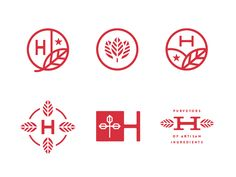 Hatchery Secondary Logos by Steve Wolf on Dribbble Lettering, Typography Design, Food Typography, Logo Inspiration, Logo Branding, Branding Design, Steve Wolf, Typographie Logo, Leaf Logo