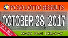 PCSO Lotto Results October 28, 2017 (6/55, 6/42, 6D, SWERTRES & EZ2 LOTTO)