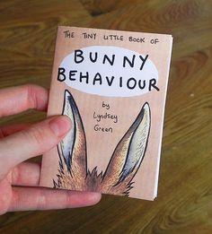 Bunny Behaviour Mini Zine  Rabbit Illustration by LyndseyGreen, £2.00