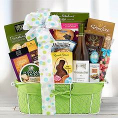 Sweet surprise gift basket candy chocolate assortments easter wine gift basket negle Images