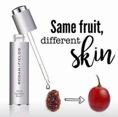 Grapes. Love em. When they turn into wine…love em even more. Now when they turn into raisins…  This is why I ❤️ Active Hydration Serum. It turns raisins into grapes.  * It's not a moisturizer because moisturizers RETAIN. * It's a hydrator because it ATTRACTS. It literally plumps up your cells by up to 200% in the first use.   When skin is dehydrated, it creates more oil to make up for the missing water. Who knew? This can cause breakouts, irritation, dry patches, dullness, and wrinkles My Rodan And Fields, Rodan Fields Skin Care, Rodan And Fields Business, Rodan And Fields Products, Rodan And Feilds, Field Marketing, Acne Skin, Oily Skin, Love Your Skin