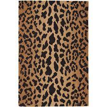 Leopard Wool Micro Hooked Rug
