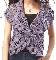 I love to crochet. I love to search out pictures of crochet as inspiration for future projects. Crochet Bolero, Cardigan Au Crochet, Beau Crochet, Pull Crochet, Gilet Crochet, Mode Crochet, Crochet Jacket, Crochet Cardigan, Crochet Scarves
