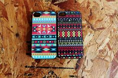2 indian native american Apple Iphone 4 / 4s case tribal pattern symbol hipster
