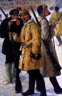 "(106) 10 Février 2017 Peintres russes5 Alexandre Deïneka (Александр Дейнека) (1899-1969) cf. tableau ""peintres russes"" .."