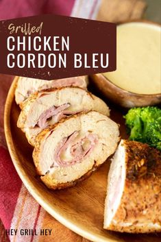 This Grilled Chicken Cordon Bleu is an excellent, easy dinner option when you want some comfort food, but you're short on time. It's made with a creamy Dijon mustard sauce that is completely irresistible and lick-your-fingers good. Traeger Recipes, Grilling Recipes, Cooking Recipes, Smoker Recipes, Chicken Cordon Blue, Caramelized Bacon, Grilled Chicken Recipes, Cooking On The Grill, Tater Tots