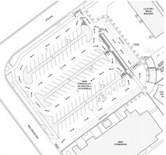Parking plan for the Denver Montclair International School - EVstudio, architecture engineer Denver Evergreen Colorado, Austin Texas Architect Parking Plan, Parking Building, Parking Space, Car Parking, Landscape Architecture Design, Architecture Plan, Architecture Details, The Plan, How To Plan