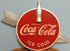 1930's Kay Display Coca Cola wood & metal Arrow Sign : Lot 15