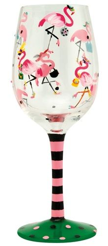 """Funky Flamingo"" Wine Glass by Lolita (Hula Island)"