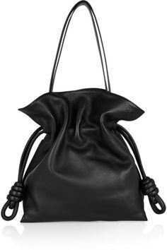 Loewe | Flamenco Knot large leather shoulder bag | NET-A-PORTER.COM