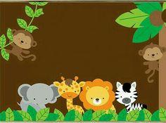 Para la pizarra de corho Jungle Theme Birthday, First Birthday Party Themes, Jungle Party, Dinosaur Birthday Party, Safari Party, Safari Theme, Animal Birthday, Animal Pictures For Kids, Jungle Animals