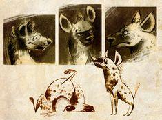 Hyena Doodles by Skia.deviantart.com on @DeviantArt