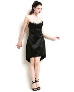 A.B.S. Black Satin Dress, OMG $35!! Down from 305.00!