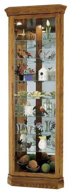 Corner Curios Drake Display Cabinet by Howard Miller