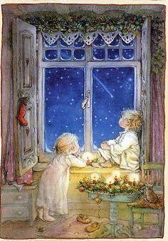 Risultati immagini per lisi martin christmas cards Christmas Scenes, Noel Christmas, Vintage Christmas Cards, Christmas Pictures, Vintage Cards, Winter Christmas, Vintage Postcards, Christmas Crafts, Christmas Artwork