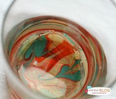 DIY Marbled Glassware Using Nail Polish