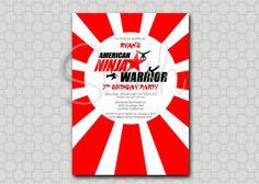 American Ninja Warrior Digital Birthday by SwishPrintables on Etsy, $15.00