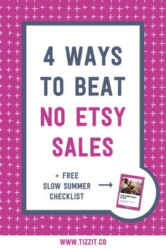 It is a known fact that Etsy sales tend to drop in the summer months. There are many reasons why: people are outside enjoying their holidays, busy with kids all day, not as often in front of their computers. So what should you do during the slow summer months? Watch the video and download a FREE checklist to help you out increase Etsy sales. | Etsy sales tips | Etsy shop tips | Etsy business tips Etsy Business, Business Tips, Summer Checklist, Etsy Seo, Online Marketing Strategies, Sales Tips, Summer Months, Finance Tips, Handmade Shop