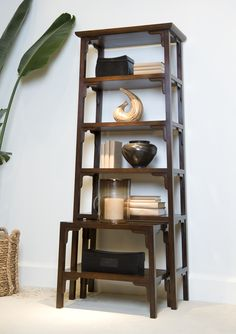 Henredon Etagere with nesting table creates height and presence in any room. Tiny House Living, Living Room, Home Id, Apartment Makeover, Interior Design Business, Asian Design, Nesting Tables, Accent Furniture, Home Furnishings