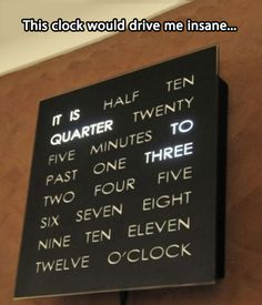 I still want this clock though!