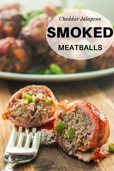 Cheesy Jalapeno Bacon Smoked Meatballs These smoked meatballs are simply unbeatable! Packed with cheddar and jalapeno before being bacon wrapped and slow smoked. These aren't your momma's meatballs. They're better. Stuffed Jalapenos With Bacon, Stuffed Peppers, Jalapeno Bacon, Jalapeno Poppers, Slow Cooking, Smoker Cooking, Smoked Meatballs Recipe, Healthy Eating Tips, Snacks