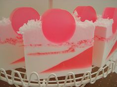 Coconut Bubble Gum Glycerin Soap #soap #handmade