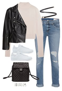 Sem título #4982 by fashionnfacts on Polyvore featuring polyvore, fashion, style, Dion Lee, H&M, rag & bone, adidas Originals, Chanel, Yves Saint Laurent and clothing