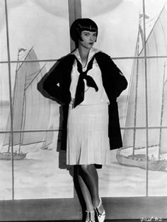 Louise Brooks 1920's modeling nautical outfit