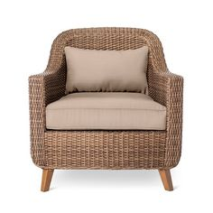 • All-weather wicker<br>• Rust resistant steel frame<br>• Includes seat and back cushions<br>• Compatible with the Threshold Club Patio Chair Cover<br><br>Enjoy a touch of classic elegance with the Mayhew All-Weather Wicker Wicker Patio Club from Threshold and upgrade your al fresco dining experiences. If you love to spend time in your outdoor space, you'll appreciate the quality that goes into this handsome wicker ch...