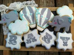 Baby Shower cookies by Edelweiss Cookie Haus