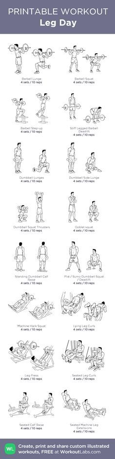 NEVER FORGET 'Leg Day': my custom printable workout by @WorkoutLabs #workoutlabs #customworkout