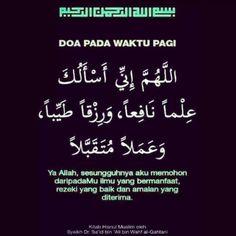 Doa Waktu Pagi