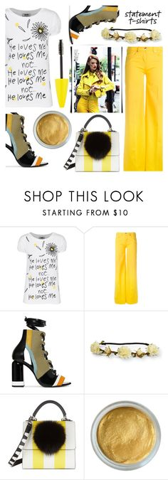 """#436 Dandelions"" by mayblooms ❤ liked on Polyvore featuring Moschino Cheap & Chic, Love Moschino, Pierre Hardy, Aéropostale, Les Petits Joueurs, Maybelline and summerbooties"