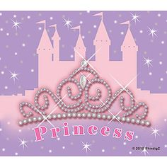 Our Pretty #Princess Luncheon Napkins feature a sparkling tiara and the word Princess on a lavender background with a large pink castle. Sold in packages of sixteen.