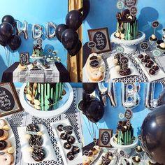 Tonight from @solafly Simple #birthdayset #desserttable #birthdaycake #madewithlove #caketopper #diy #blog #blogger #blogging #blogstyle #instablog #dripcake #creative #handmade by solafly
