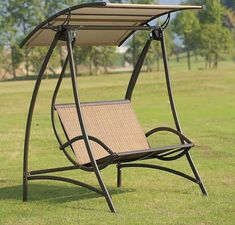 31 Awesome Garden Swing Seat Design Ideas - There are very few things more relaxing than sitting on a porch or in the garden on a garden swing seat, bathing in the sunset or watching the day go . Garden Swing Seat, Patio Swing, Iron Furniture, Garden Furniture, Outdoor Furniture, Furniture Movers, Cheap Furniture, Banco Exterior, Sun Lounger Chair
