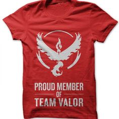Proud Member of Team Valor t-shirt by Clique Wear Pokemon T, Cute Outfits, T Shirt, How To Wear, Clothes, Women, Beautiful Clothes, Tee, Clothing