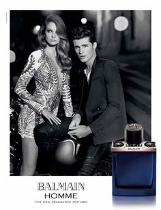 Eniko Mihalik stars in Balmain Homme fragrance advertisement
