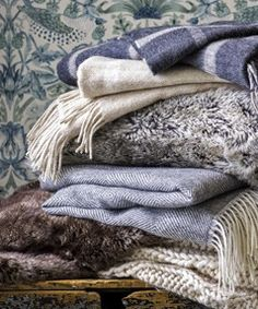 Needing some bedroom inspiration? Warm up your sleep sanctuary with woollen throws like these from John Lewis
