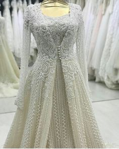 144 Likes, 6 Comments - реклама для салонов ( - wedding-dress. Silver Wedding Gowns, Indian Wedding Outfits, Bridal Outfits, Indian Outfits, Bridal Dresses, Bridal Hijab, Eid Outfits, Indian Clothes, Shadi Dresses