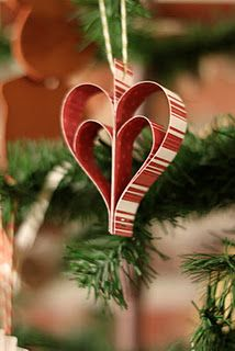 directions for making Paper Heart ornaments